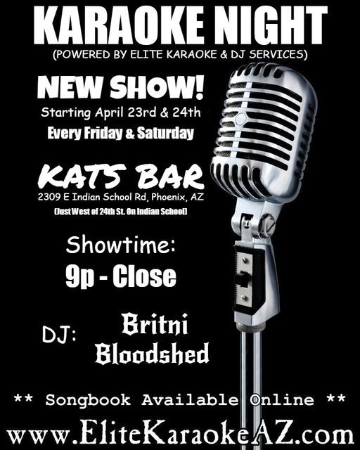 Karaoke Friday at Kats Bar in Phoenix