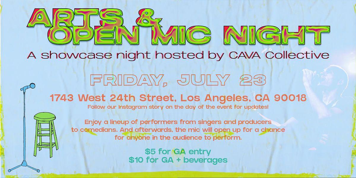 CAVA Arts & Open Mic Night