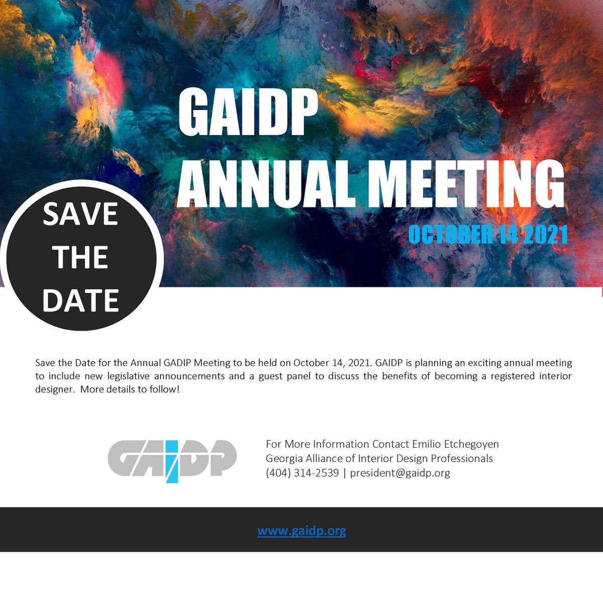 GAIDP 2021 Annual Meeting